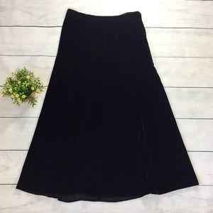 Diane Von Furstenberg Vintage Velvet Midi Skirt